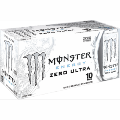 (20 Cans)Monster Ultra Energy Drink, Zero, 16 Fl Oz