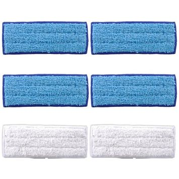 KEEPOW 6-Pack Washable Mopping Pads for Braava Jet 240 241 Included (4 Wet + 2 Dry)