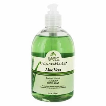 Essentials Pure & Natural Glycerin Hand Soap Aloe Vera - 12 fl. oz. by Clearly Natural (pack of 4)