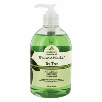 Essentials Pure & Natural Glycerin Hand Soap Tea Tree - 12 fl. oz. by Clearly Natural (pack of 4)