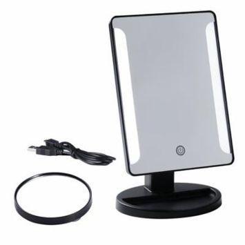 Black 36 LED Makeup Mirror Desktop Compact USB Power Supply Beauty Home