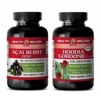weight loss for women - ACAI BERRY - HOODIA GORDONII - acai powder bulk - weight loss combo kit - (2 Bottles COMBO)