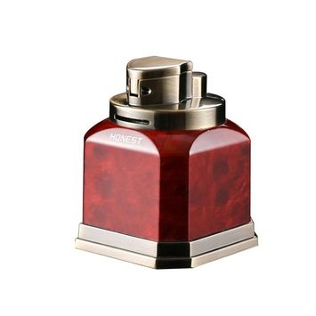 Honest Quad Torch Lighter Tabletop Refillable Butane Gas Red Flame Cigar Tobacco Lighter