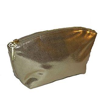 bareMinerals Gold Metallic Sparkle Makeup Cosmetic Bag