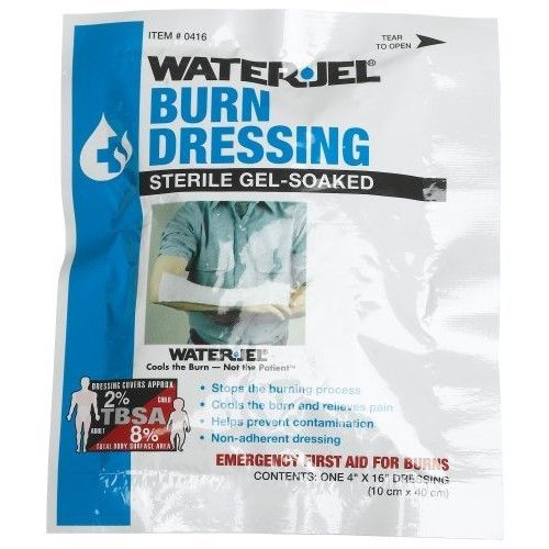 """First Aid Only 4"""" X 16"""" Water Jel Burn Dressing, Sterile (Pack of 2)"""