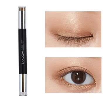 Hot Sales! DEESEE(TM)6 Color Women Professional Double Head Pen Baked Eye Shadow Powder Water Resistant Palette Shimmer Metallic Eyeshadow