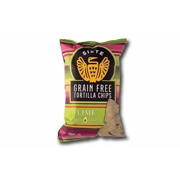 Siete Lime Grain Free Tortilla Chips, 5 oz bags, 6-Pack