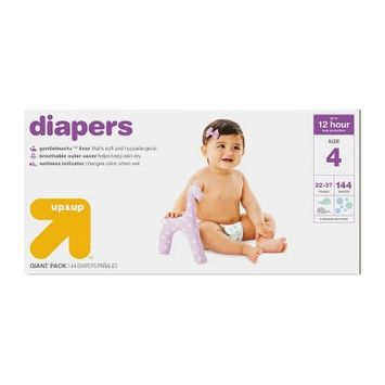 Up & Up Diapers Giant Pack Size 4 - 144ct - Up&Up