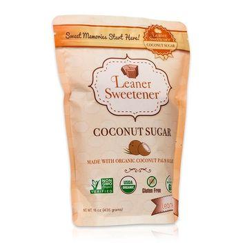 Leaner Sweetener: Organic Coconut Palm Sugar - A Healthy and Organic Sugar Alternative- Low Glycemic, Non-GMO