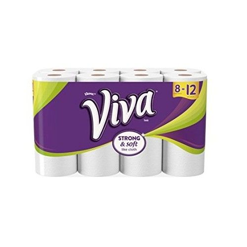 Viva Paper Towels, Full Sheet, White, 8 Giant Rolls