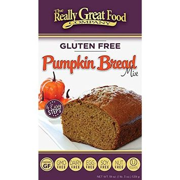 Really Great Food Company – Gluten Free Pumpkin Bread Mix – Large 19 ounce box - No Nuts, Soy, Dairy, Eggs - Vegan, Kosher, Non-GMO and Plant Based [Pumpkin]