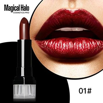 Women Long-wear Lip Makeup, Lotus.flower Charming Matte Lipstick Frosted Moisturizing Lipstick Waterproof Lip Gloss Cosmetics