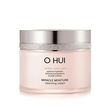 O HUI MIRACLE MOISTURE CLEANSING CREAM 200ml with Sample Gift