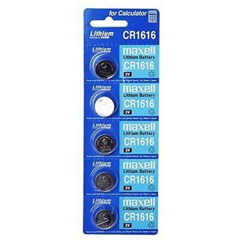 Maxell CR1616 3V Lithium Battery 5 Pcs Single Use Batteries