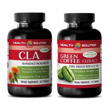 fat loss protein - CLA - GREEN COFFEE EXTRACT - COMBO - green coffee lost weigh - (2 Bottles COMBO)