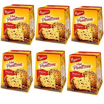 Bauducco Mini Panettone Specialty Cake - - 3.53 oz-100g (Original, 6 Pack)