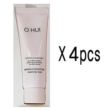 [OHUI] Miracle Moisture Cleansing Foam 40ml x 4ea [160ml] Free Gift: Beauty