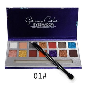 Hunputa Eyeshadow ,Cosmetic Matte Eyeshadow Cream Makeup Palette Shimmer Set 14 Colors Eyeshadow