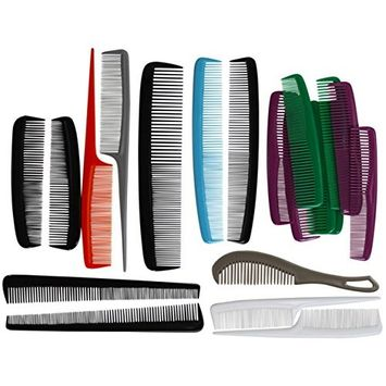 Quality Choice Combs 20-Piece Family Set, Assorted Sizes