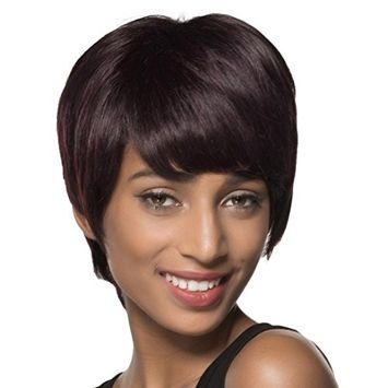 OVERMAL Natural Short Wigs for Women Human Hair Wig Short Hair Wig