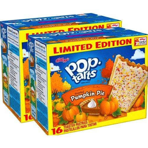 Kellogg's Pop-Tarts Frosted Caramel Apple/ Kellogg's Pop-Tarts Frosted Pumpkin Pie Toaster Pastries, 16ct 28.2oz (Pumpkin Pie, 2)