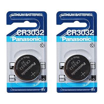 Panasonic CR3032 3V Lithium Battery 2PACK Single Use Batteries