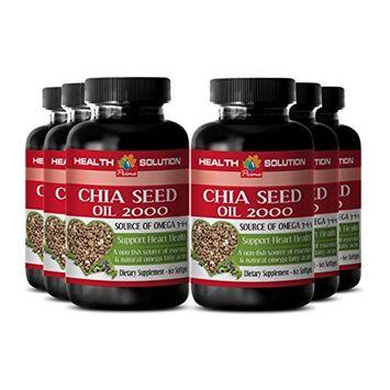 Organic chia seed oil - CHIA SEED OIL 2000 - brain booster (6 bottles)