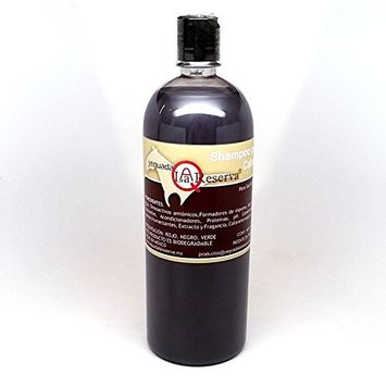 Yeguada La Reserva Shampoo de Caballo Negro (1 liter Bottle) For Strong, Healthy And Beautiful Hair (For Dark to Black Colored Hair)