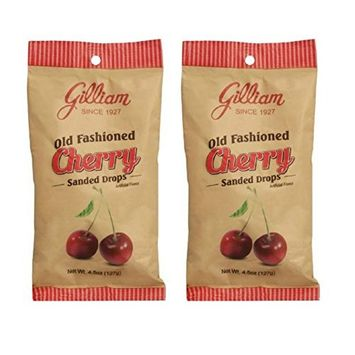 Gilliam Old Fashioned Cherry Flavored Sanded Drops Pack of 2 (4.5 oz. Bag) (Cherry)