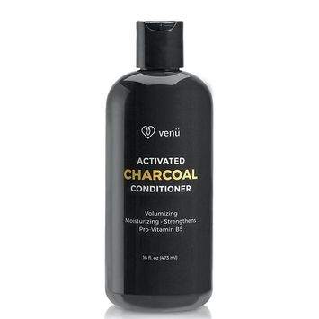 Activated Charcoal Keratin Conditioner – All Natural Gentle Sulfate Free Daily Hair and Scalp Cleanser For Men and Women - Volumizing, Moisturizing, Clarifying, Detoxifying – By Venu