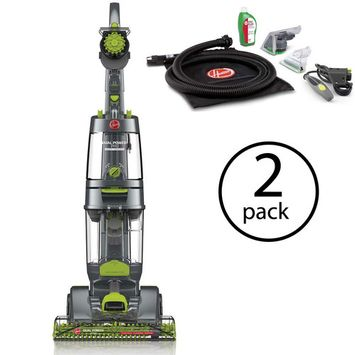 Hoover Dual Power Pro Deep Carpet Cleaner w/Accessory Pack Dual Tanks, (2 Pack)