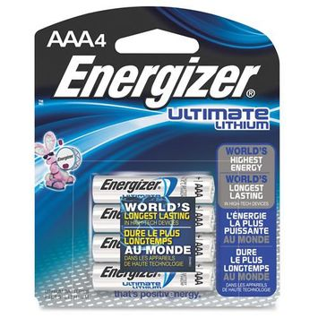 EVEREADY INDUSTRIAL/ENERGIZER L92BP4 AAA LITHIUM ULTIMATE 4-PACK L92BP4 AAA LITHIUM ULTIMATE 4-PACK