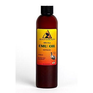 Emu Oil Australian Organic by H&B OILS CENTER Triple Refined Premium Quality Natural 100% Pure 8 oz