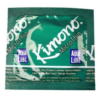 Kimono Microthin Condoms with Aqua Lube 12 Pack [12]