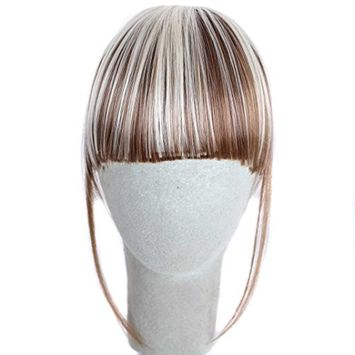 OVERMAL Pretty Girls Clip On Clip In Front Hair Bang Fringe Hair Extension Piece