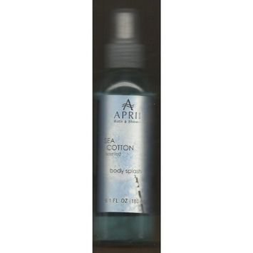 April Bath and Shower Sea Cotton Scented Body Splash 6.1oz (2 Pack)