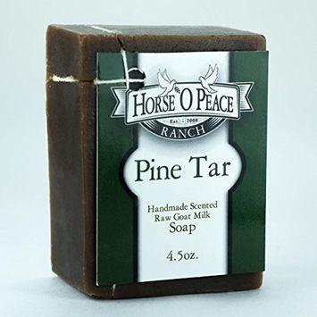 Handmade Herbal 100% Raw Goat Milk Pine Tar (4oz./Bar)