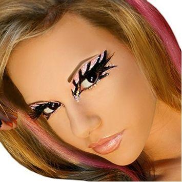 Electric Exotic Eyes Professional Eye Paint False Eyelashes Dancer Stripper