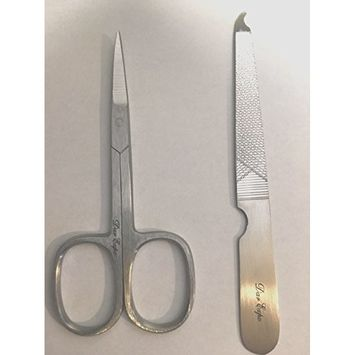 Pocket Size Nail File Stainless Steel & Nail Scissors Set