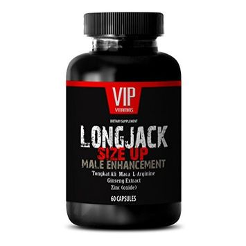Testosterone booster for men bulk - LONGJACK SIZE UP 2170Mg - MALE ENHANCEMENT SUPPLEMENT (With Maca, Tongkat Ali, L-Arginine, Ginseng and Zinc) - 1 Bottle 60 Capsules