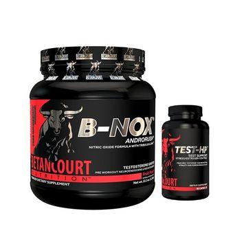 Betancourt Nutrition B-NOX Fruit Punch Bullnox Pre-Workout + TEST-HP 90 Capsules Combo