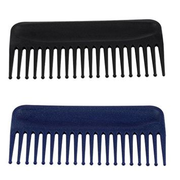 Baoblaze 2x Anti Static 19 Tooth Detangling Hair Comb Hair Conditioning Rake Comb Wide Tooth Hairbrush Large Teeth Hair Brush Plastic Small Size
