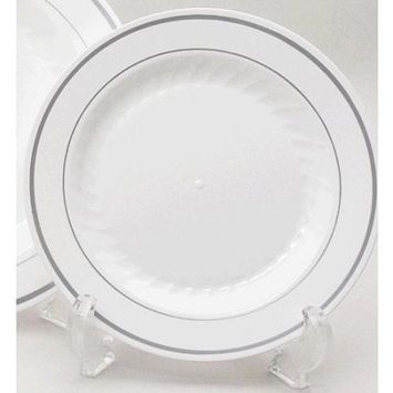 Heavyweight Plastic White Plates 7.5 Inches Package of 20