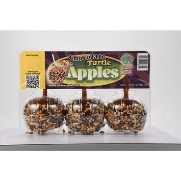 Tastee Chocolate Turtle Apples, 3 ct