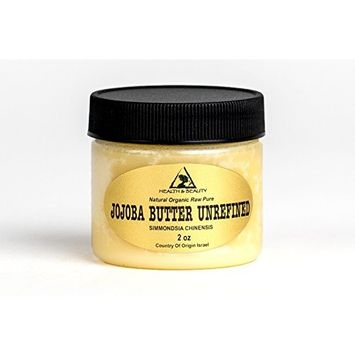 Jojoba Butter Unrefined Organic Virgin Raw Expeller Pressed Grade A Premium Quality Natural Fresh Pure 2 oz