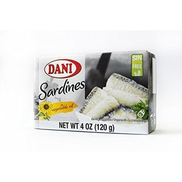 Dani Sardines in Vegetable Oil Canned 4 oz (120 g)
