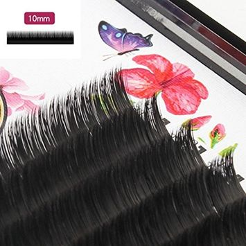Creazy Grafting False Eye Lashes Wave 0.07 C Black Silk Eyelashes Extension