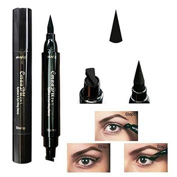 Eyeliner Stamp, Waterproof Liquid Eyeliner Pen Pencil Cat Eye Wing Eyeliner Stamps Set Easy to Makeup Tool