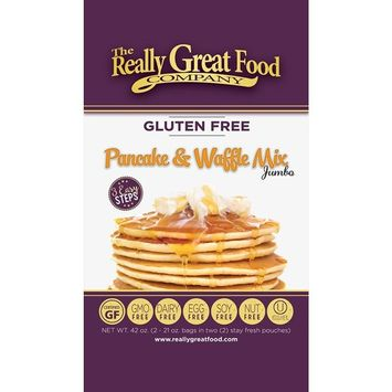 Really Great Food Company – Gluten Free Pancake & Waffle Mix - 16 ounce box - No Nuts, Soy, Eggs, Dairy - Vegan, Kosher, Non-GMO and Plant Based [Pancake]
