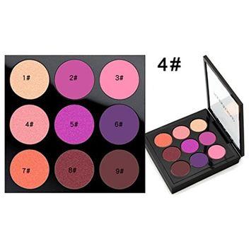 Hunputa Eyeshadow, 9 Colors Renaissance Eye Shadow Makeup Cosmetic Shimmer Matte Eyeshadow Eyes Concealer Eye Shadow Palettes